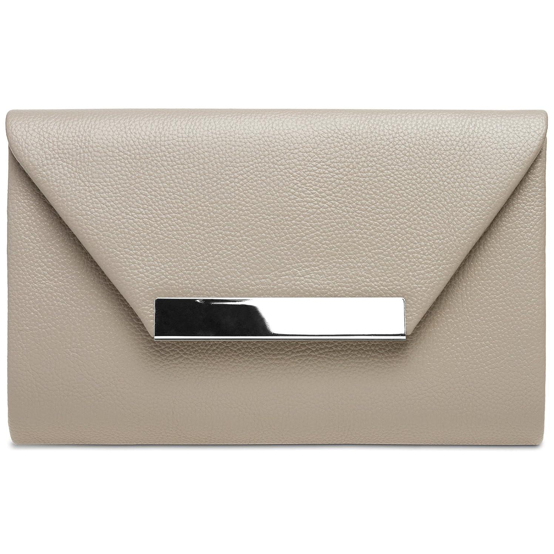 CASPAR TA419 Damen XL Envelope Clutch Tasche Abendtasche