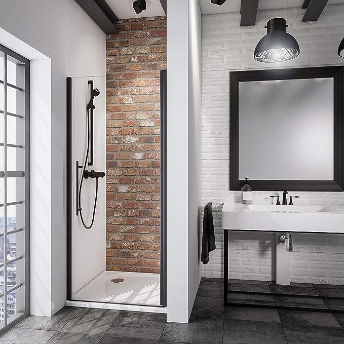 Schulte porte de douche pivotante en niche X-tra paroi de douche extensible profil/é blanc 80-90 cm