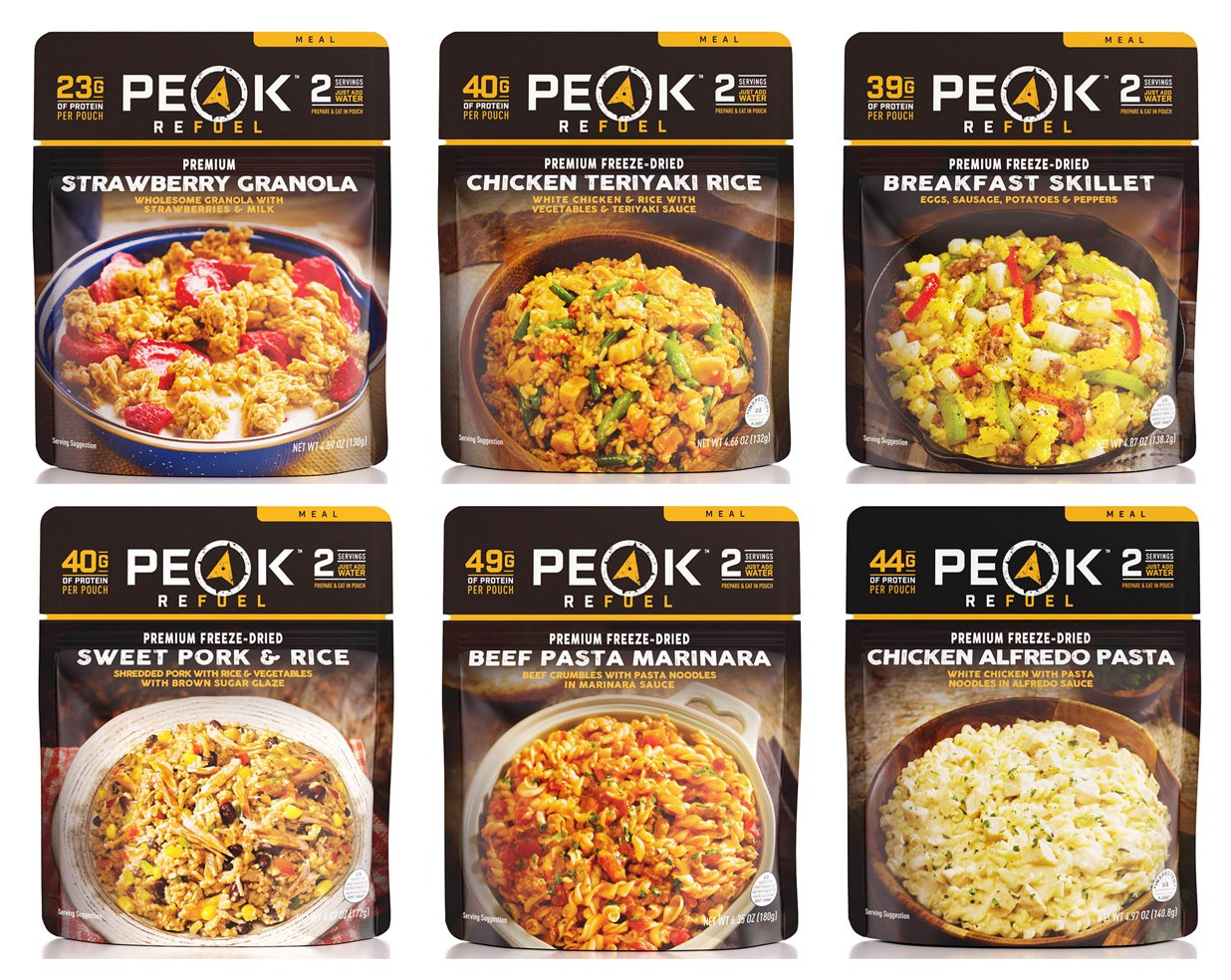 Peak Refuel Freeze Dried Backpacking and Camping Food