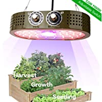 ASPEIKE 1100W COB LED Grow Light, Full Spectrum LED Plant Grow Lamp with Veg and Bloom Adjustable Knobs and Super Brightness, Widely Use for Tent, Greenhouse and Indoor Garden