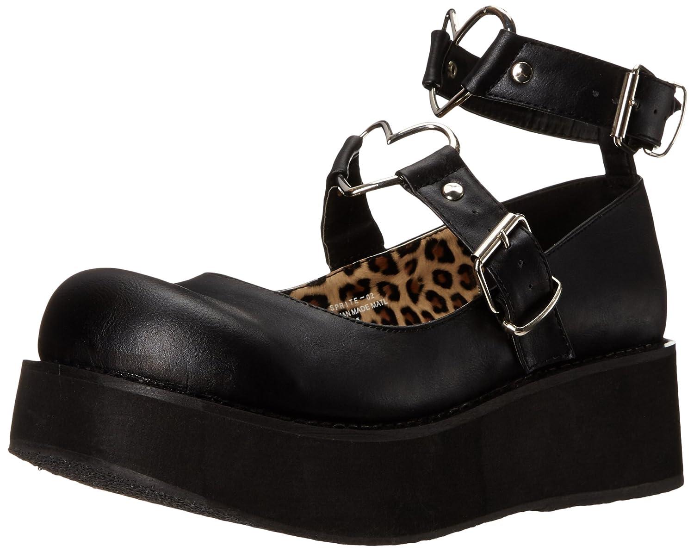 Demonia Women's SPR02/BVL Fashion Sneaker B015WMB3QU 7 B(M) US|Black Vegan Leather