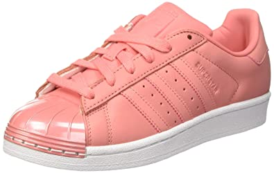 adidas Superstar 80S Metal Toe, Baskets Basses Femme, Tactile Rose/Footwear White,