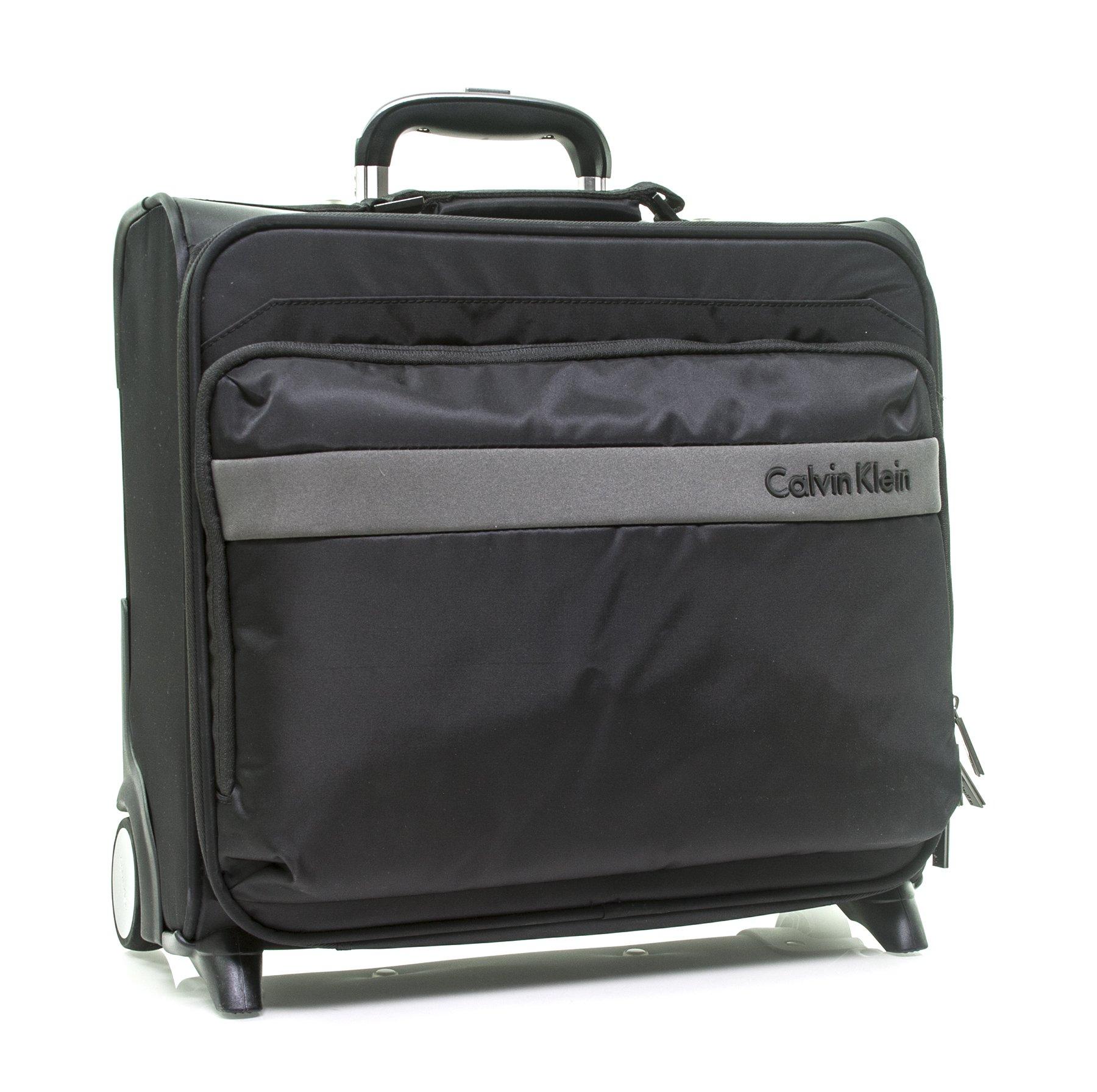 Calvin Klein Flatiron 3.0 Wheeled Pilot Case Rolling Duffel, Black, One Size