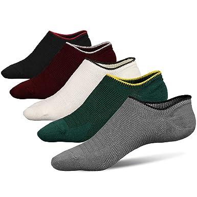 LOFIR Calcetines sin mangas para hombres Corte bajo Non Slip Grip-Invisible Calcetines para Oxfords