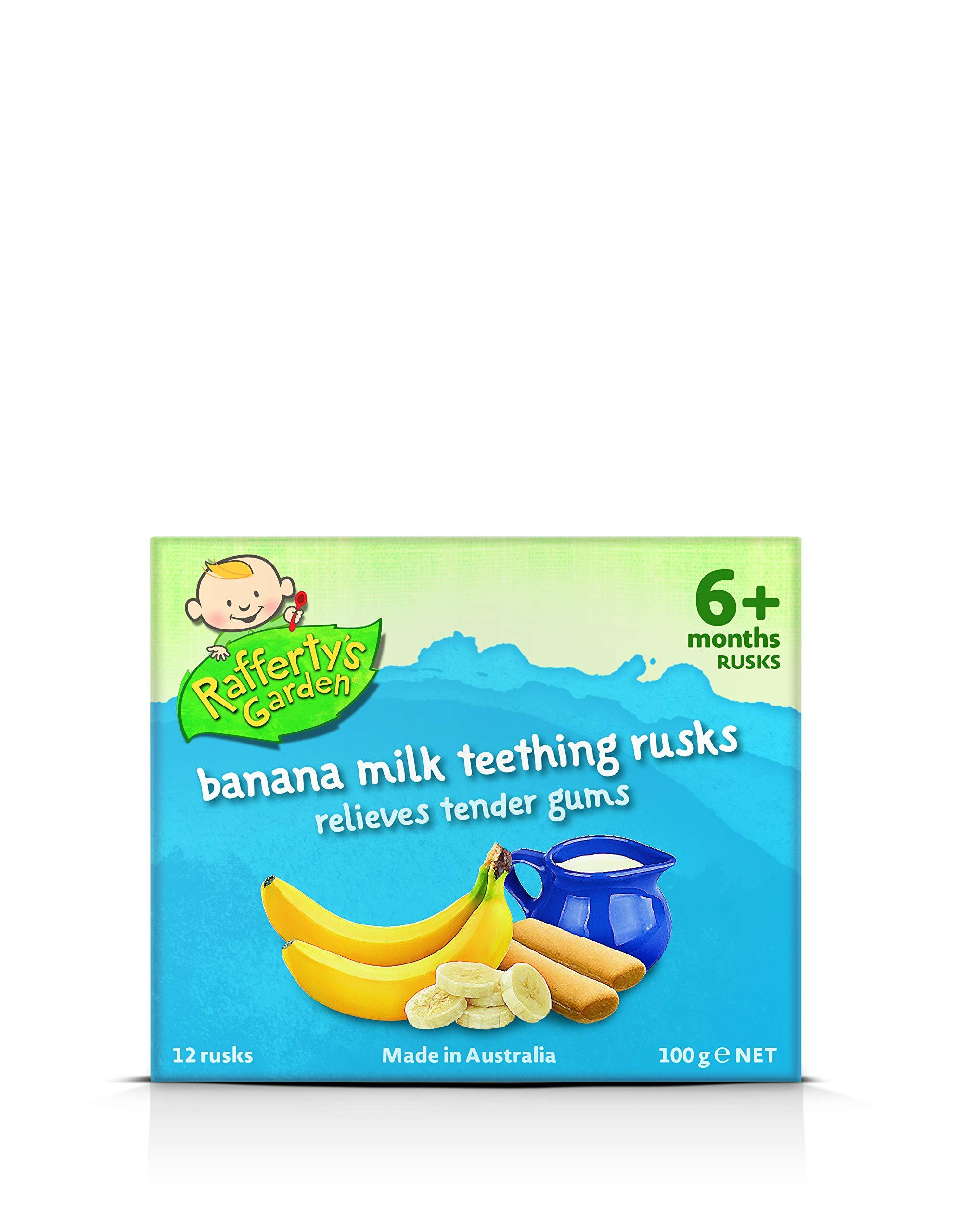 Rafferty's Garden Banana Milk Teething Rusks 100g by Rafferty's