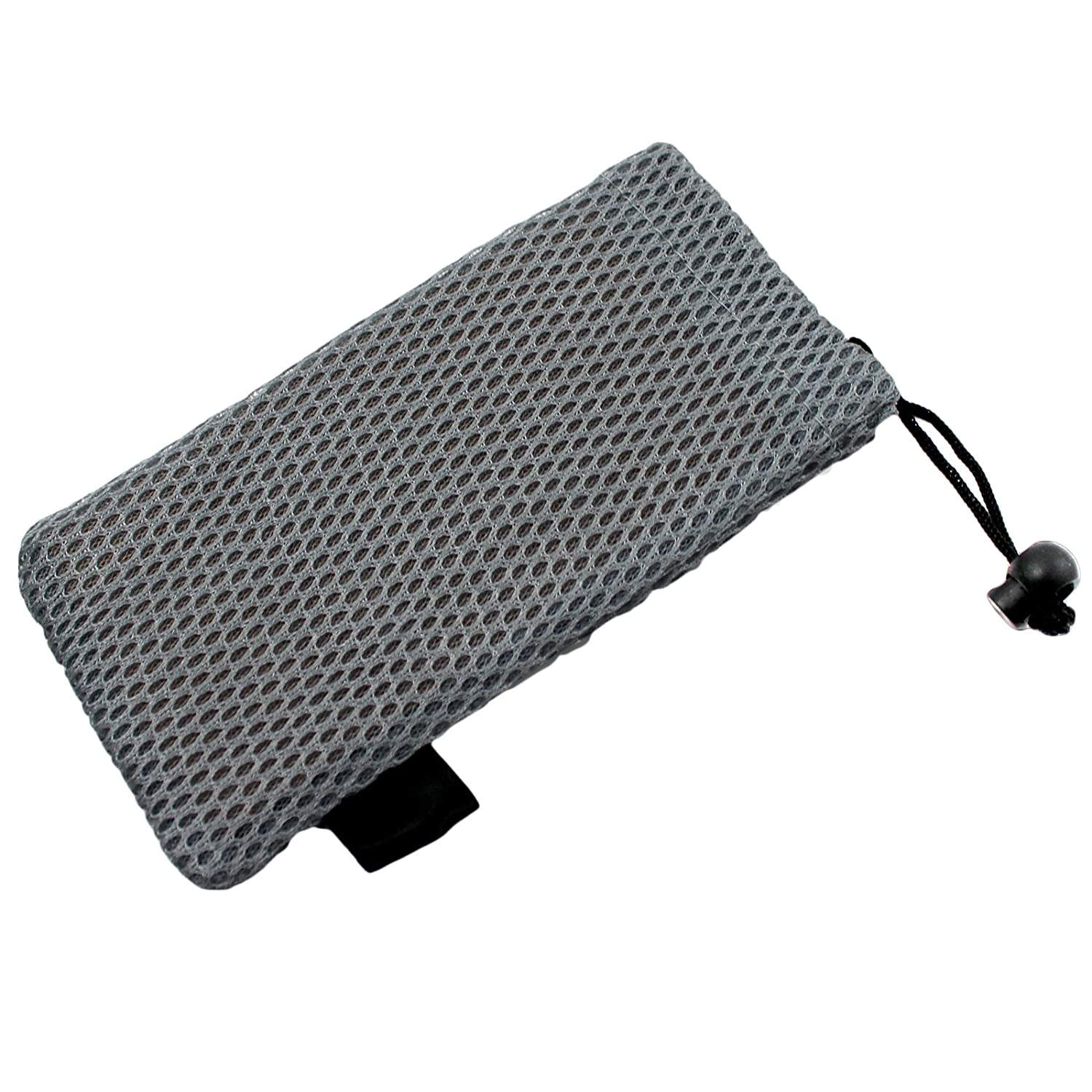 b4ea1ca3c7fd A soft padded mesh drawstring glasses case for spectacles   sunglasses  (Grey)  Amazon.co.uk  Clothing