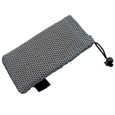 156efb9e25 A soft padded mesh drawstring glasses case for spectacles   sunglasses  (Grey)