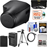 Sony LCJ-RXJ Protective Jacket Case for Cyber-Shot RX10 III/IV Camera (Black) with Battery & Charger + 3 UV/CPL/ND8 Filters + Tripod + HDMI Cable Kit