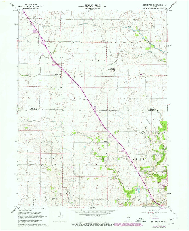 Amazon Com Yellowmaps Brookston Sw In Topo Map 1 24000 Scale 7 5
