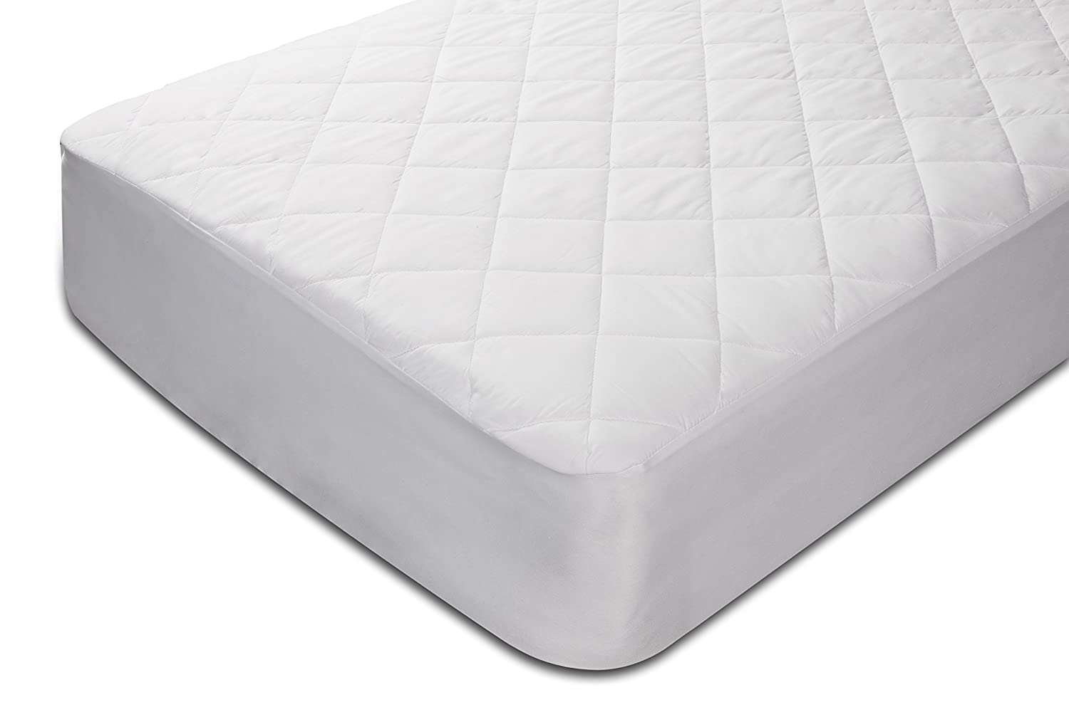 Pikolin - Quilted Fibre Mattress Protector – Waterproof, anti-dust mite, white Cama 80-80 x 190/200 cm white Pikolin Home PA203