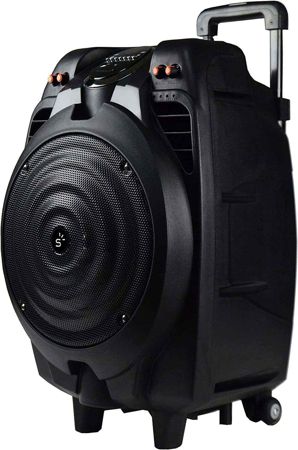 Sunstech MASSIVE-S10, Altavoz Móvil con Bluetooth (50 W, Usb, Incluye Mando A Distancia), Inalámbrico y alámbrico^Bluetooth/3.5mm/USB, Talla única, Negro