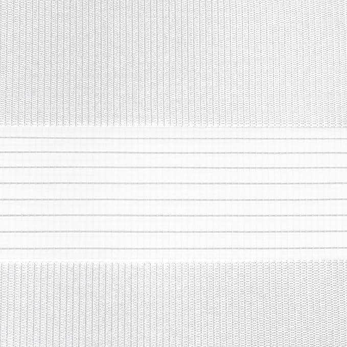 Victoria M. - Estor doble enrollable (para ventanas y puertas) 150 x 175 cm, blanco: Amazon.es: Hogar