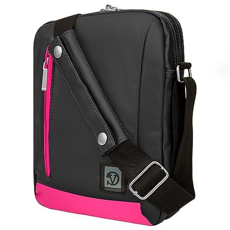 Vangoddy Laptop Bag (Grey/Magenta Pink) RCA RCT RCT6103W46 / Viking 10 Pro  (RCT6303W87DK) / Pro10 2 (RCT6203W46KC) / Cambio Cambio W101 10 1-inch