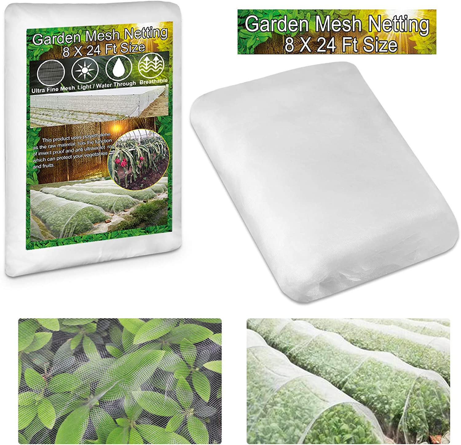 KY-YPFW 8x24 Ft Garden Netting Plant Covers - 0.032