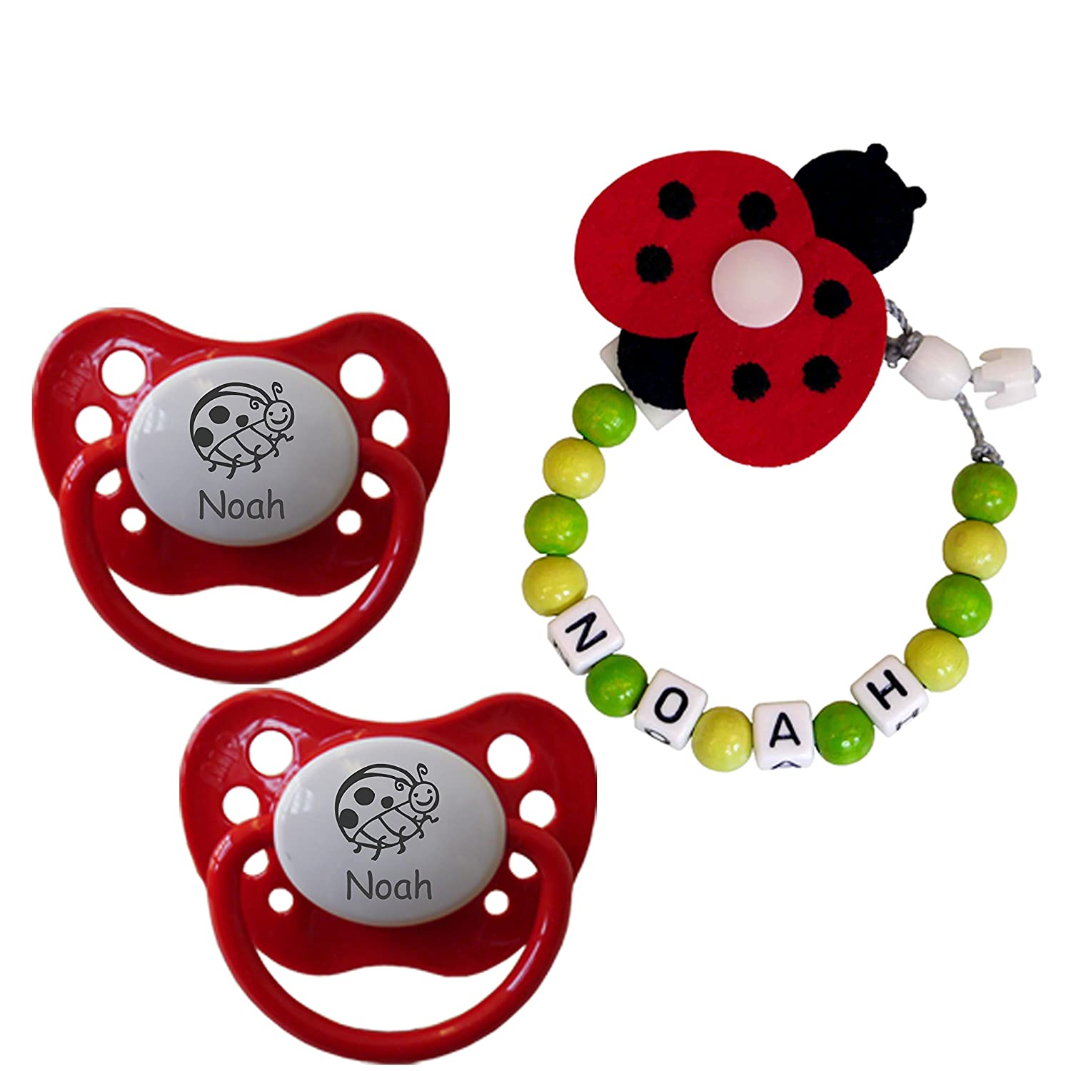 Red Ladybird Soother Clip