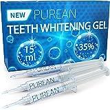 Purean Teeth Whitening Gel Refills - Pack of 3 x 5ml - 35% Tooth Bleaching Carbamide Peroxide Gel Syringes…