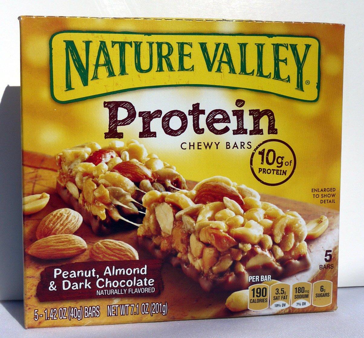 Nature Valley Protein Bar, Peanut, Almond & Dark Chocolate, 7.1 Oz. 5 Bars Ea. (Pack of 5)