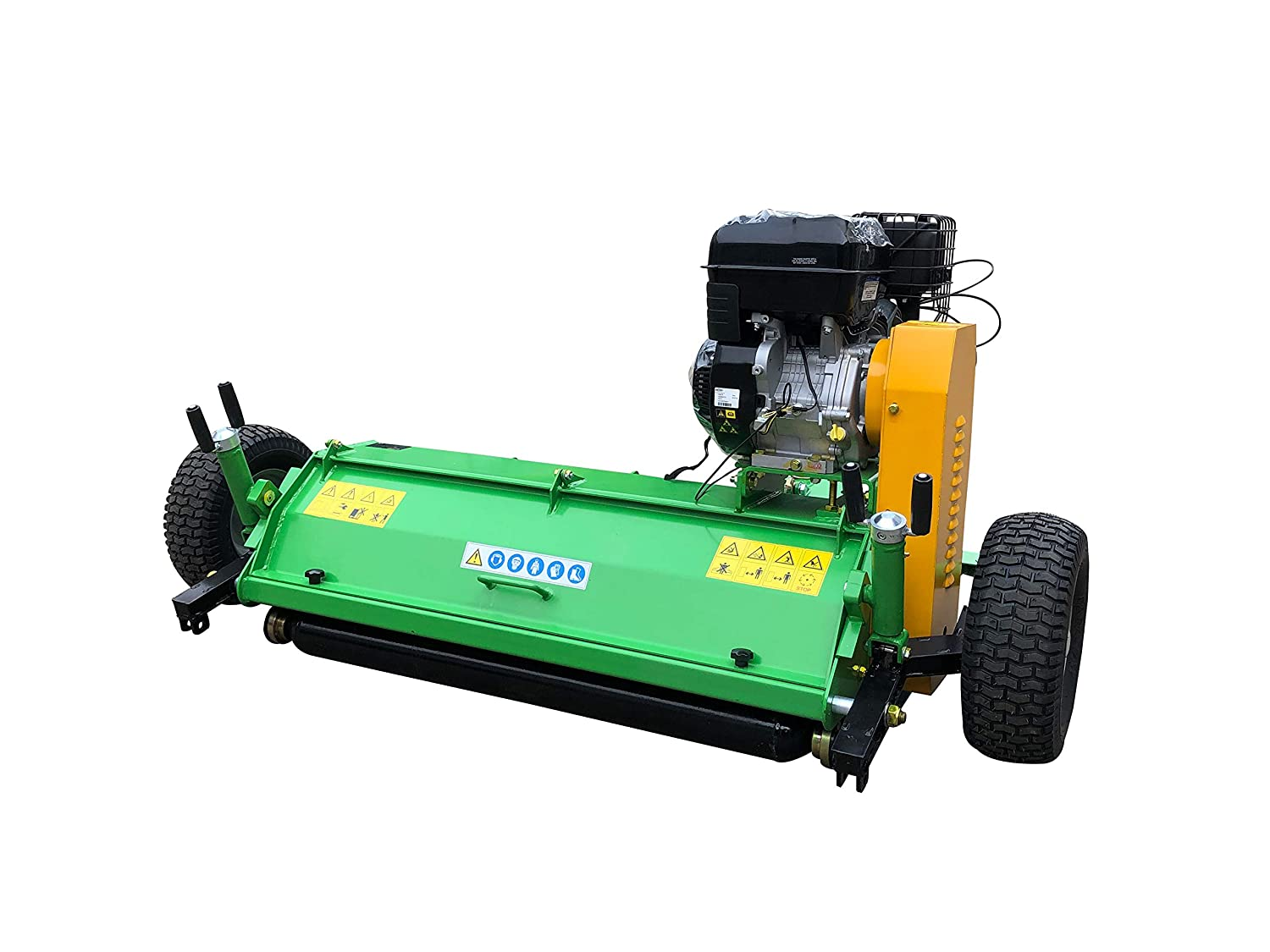 Driven by 420cc Briggs /& Stratton Hand Start Engine 57 Mowing Width Nova Tractor ATV Pull Behind Flail Mower