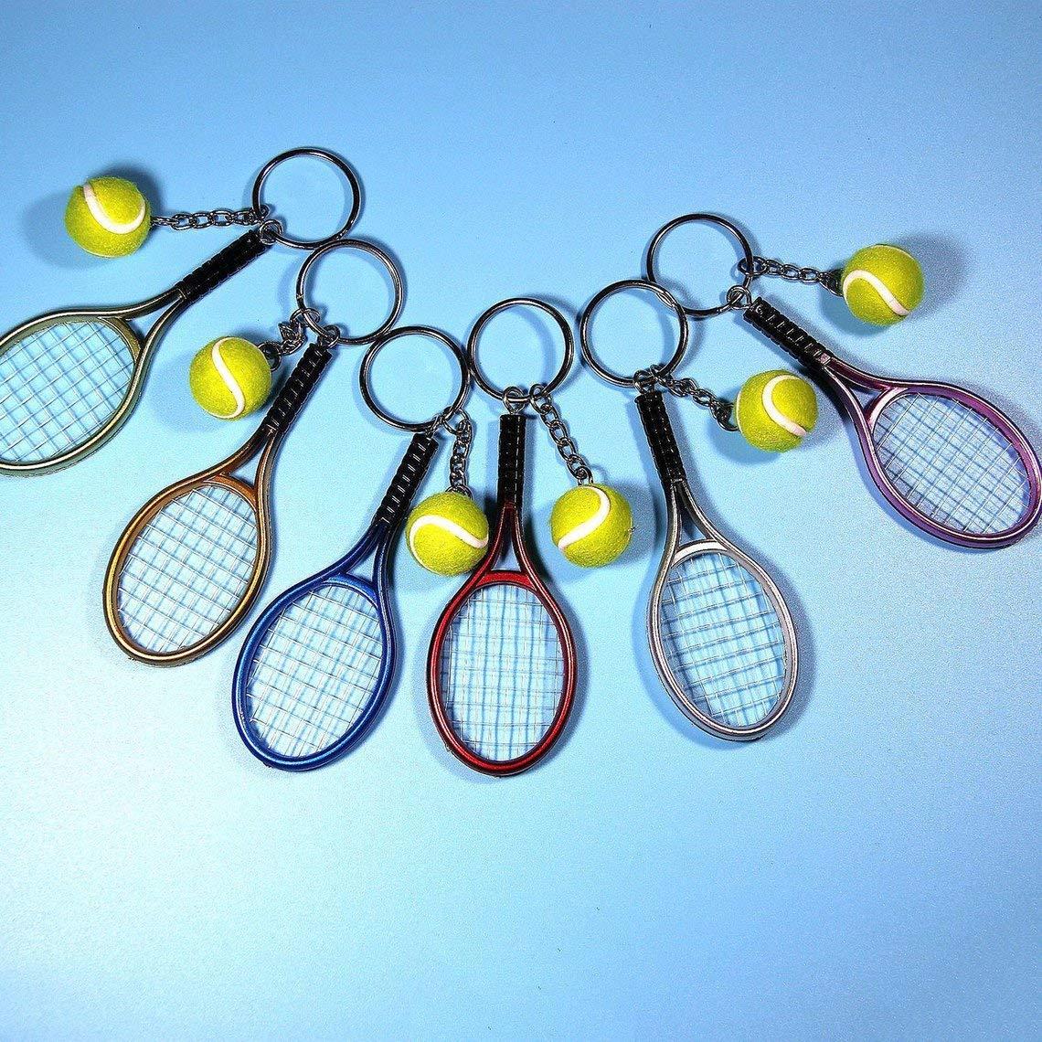 Zinniaya Moda Mini Raqueta de Tenis Colgante Llavero Llavero Llavero buscador de Anillo Accesorios de Holer para Regalos del d/ía del Amante