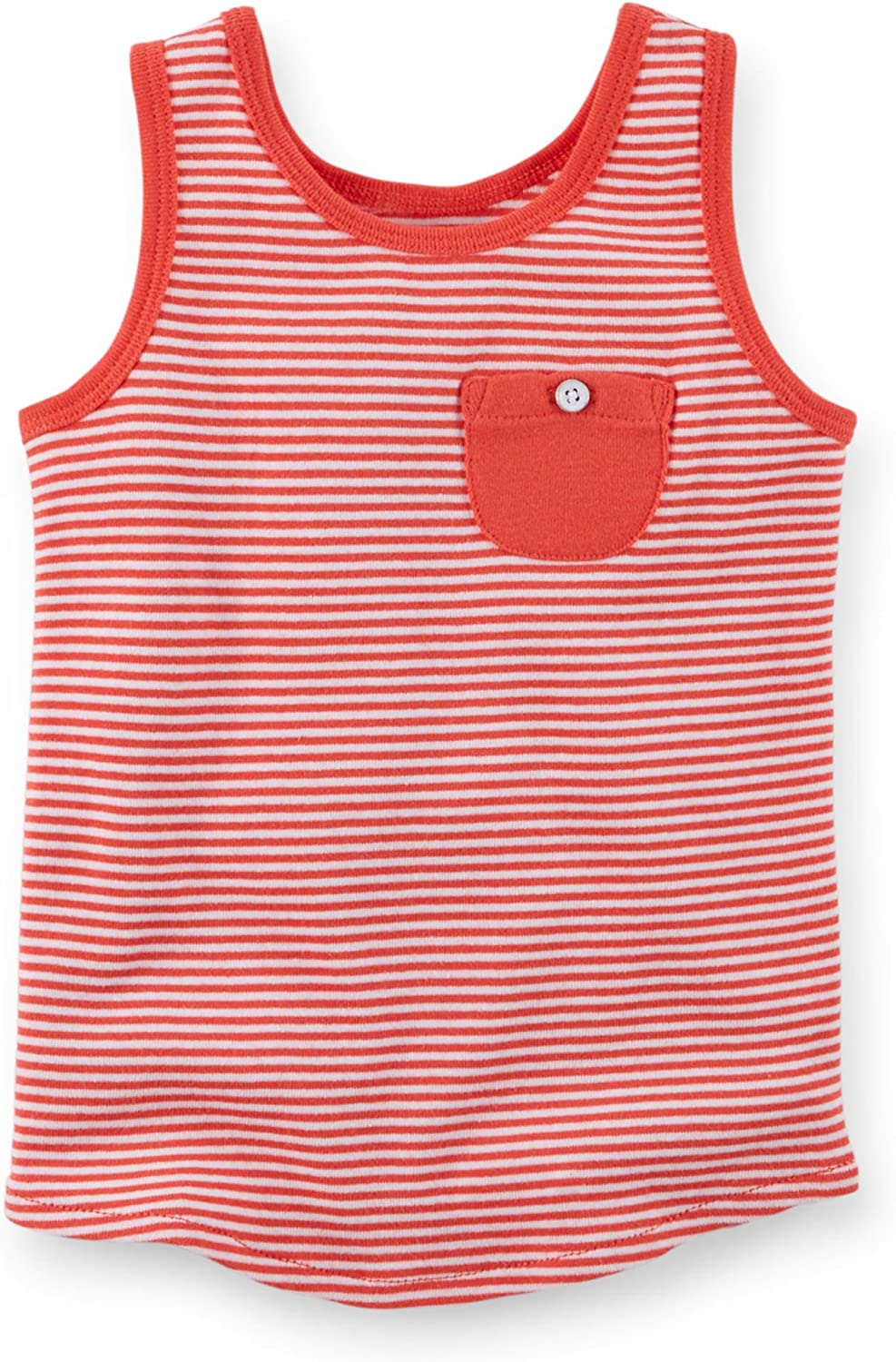 Carters Girls Red /& White Striped Tank Top