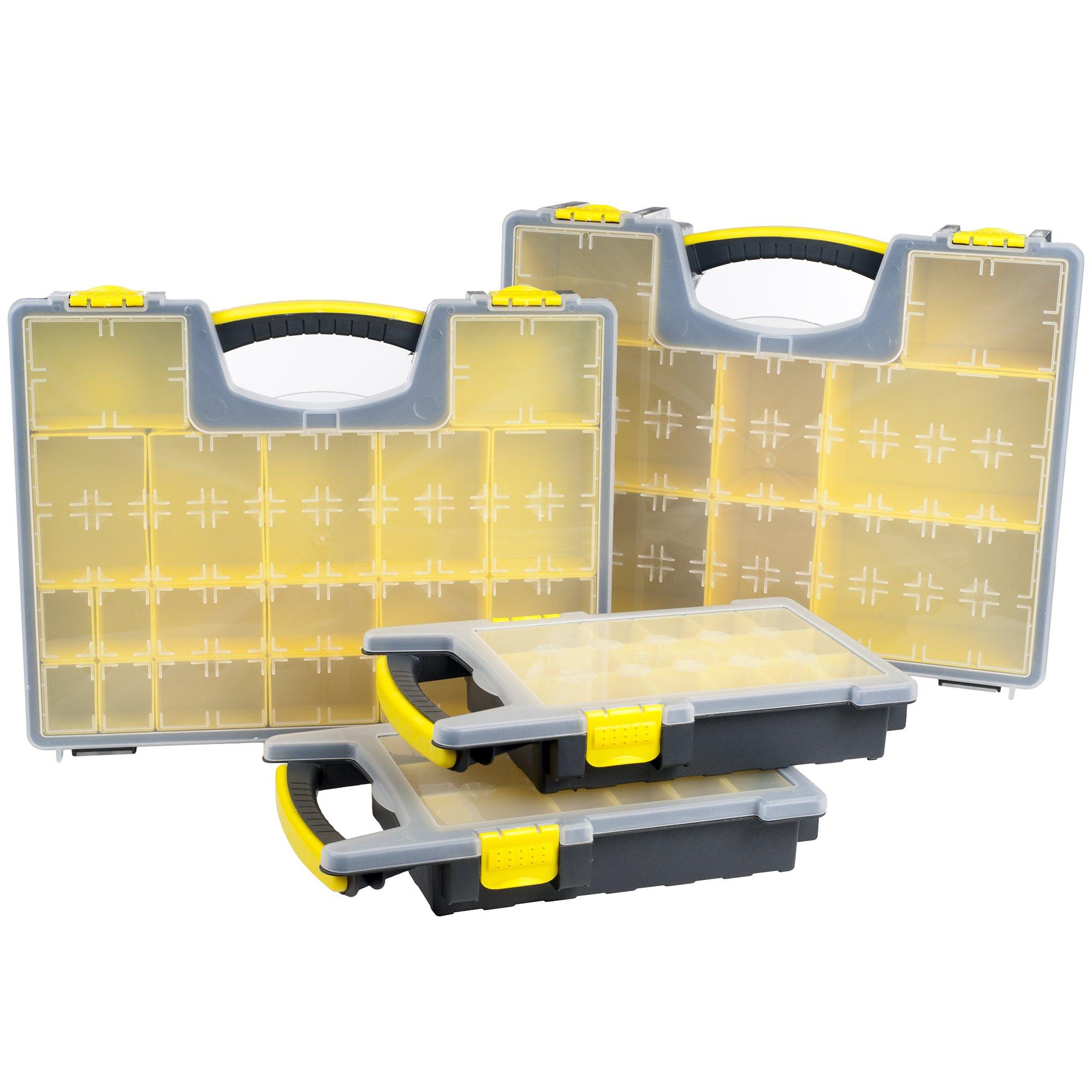 Stalwart 75-MJ4645102 Parts and Crafts Portable Storage Organizer Box (Set of 4) by Stalwart