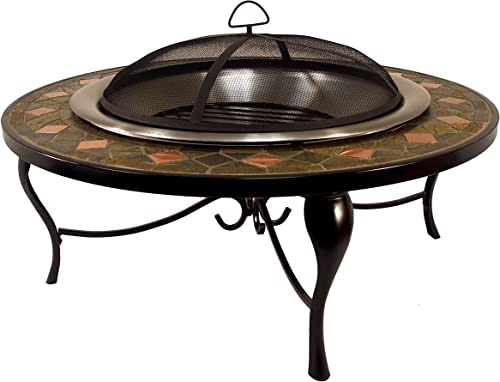 Catalina Creations 40″ Round Heavy Duty Mosaic Patio Fire Pit