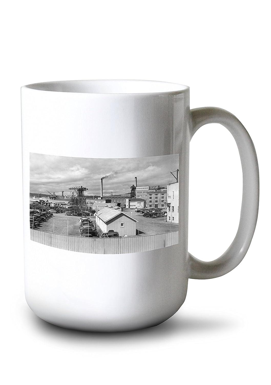 Bremerton、ワシントン – ビューの米国海軍工廠写真 15oz Mug LANT-3P-15OZ-WHT-3421 B0784MSB17  15oz Mug