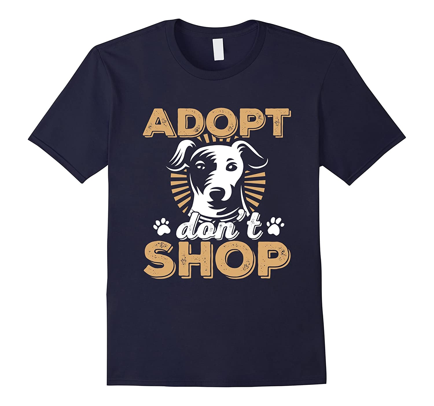 Adopt Dont Shop Dogs and Cats Animals Rescue T-Shirt-TH