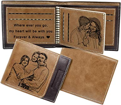 Custom Photo Wallet Mens Wallet Personalized Fathers Day Gift