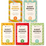 500+ Sight Words Flash Cards in Bundle Kit (Preschool, Kindergarten, 1st, 2nd & 3rd Grade) for Kids Ages 3 to 9 Years Old by Think Tank Scholar
