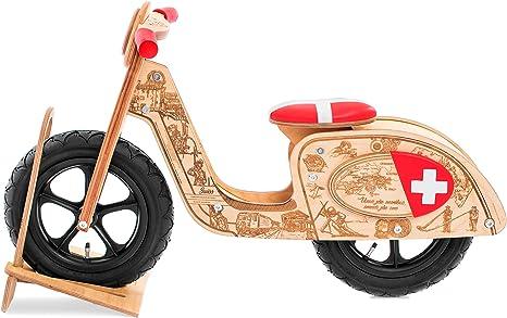 Bicicleta De Equilibrio De Madera Estilo Vespa, Swiss, para niños y ...