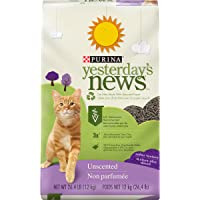 PURINA Yesterday's News Non Clumping Paper Cat Litter, Softer Texture Unscented Cat Litter in Recyclable Box - 26.4 lb…