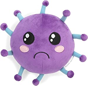 Microbe Plush Stuffed Toy for Educational Purposes, COVID Awareness (9 Inches)