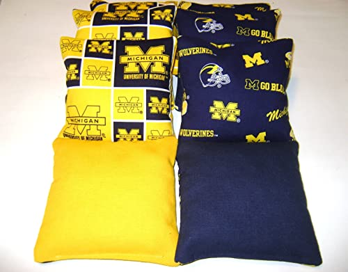 Bean Bag Toss Game Cornhole Bags Michigan Wolverines 8 Waterproof All Weather
