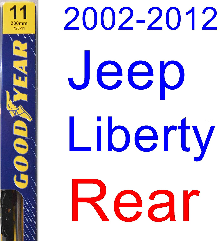 Amazon 2002 2012 Jeep Liberty Wiper Blade Rear Goodyear