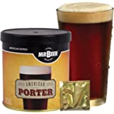 Mr. Beer American Porter 2 Gallon Homebrewing Craft Beer Making Refill Kit with Sanitizer, Yeast and All Grain Brewing Extract Comprised of the Highest Quality Barley and Hops