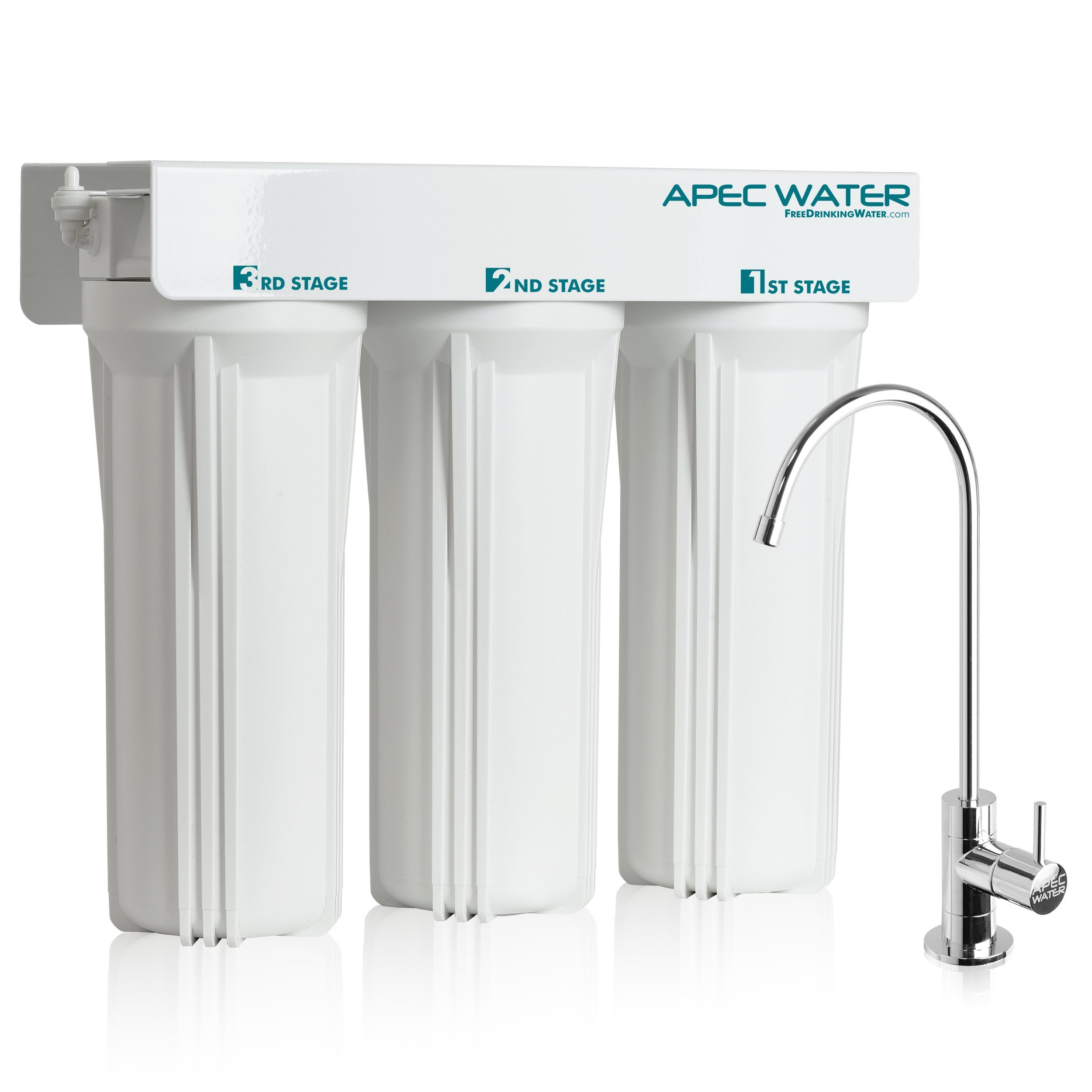 APEC WFS-1000 Super Capacity Premium Quality 3 Stage Under-Sink Water Filter System (Renewed) by APEC Water Systems