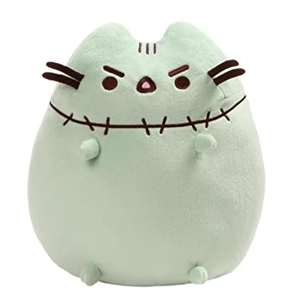 gund pusheen zombie halloween cat plush stuffed animal green 95