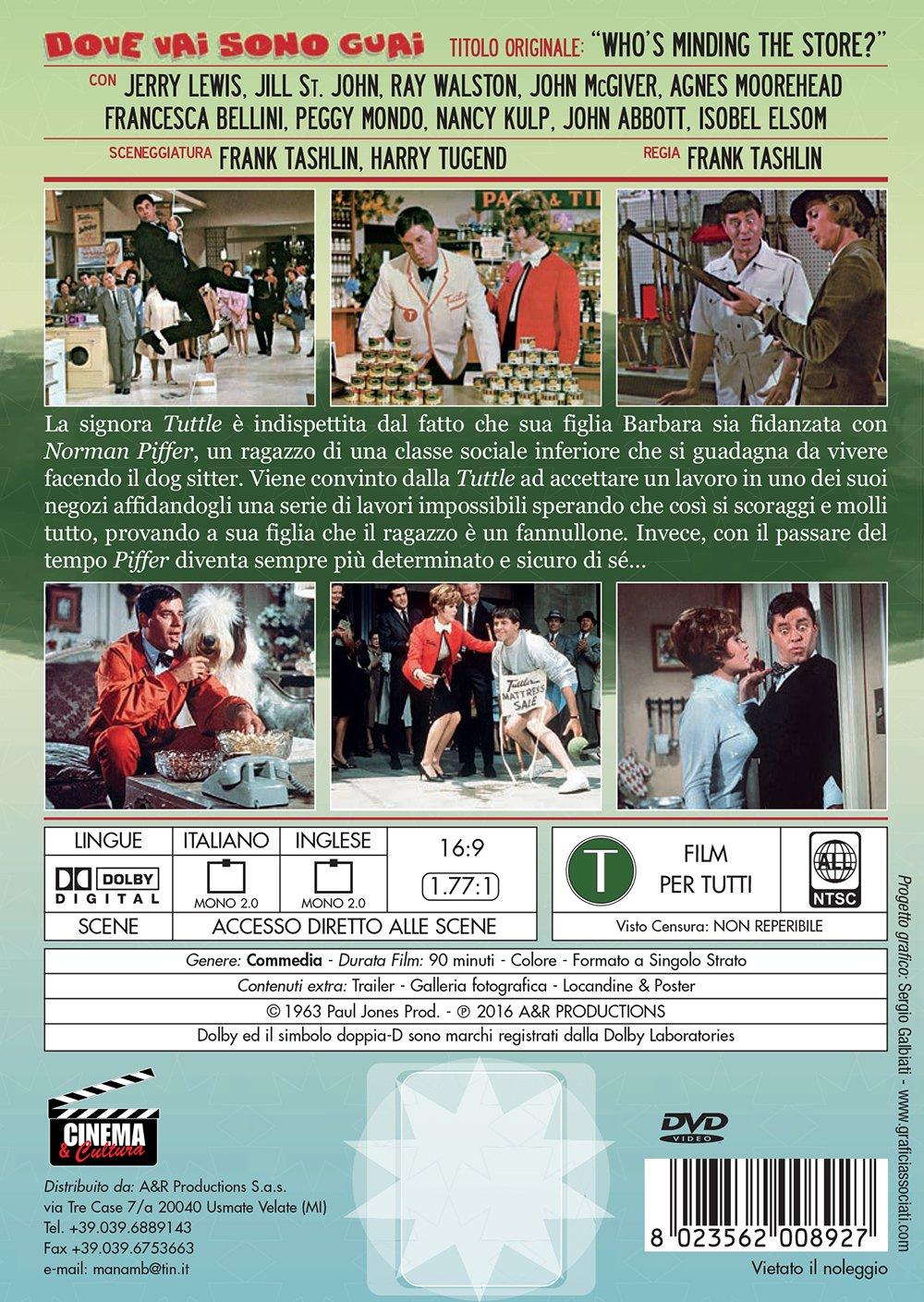dove vai sono guai! registi frank tashlin genere commedia anno produzione 1963 Italia DVD: Amazon.es: vari: Cine y Series TV