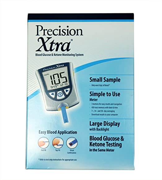 amazon com precision xtra blood glucose and ketone monitoring meter