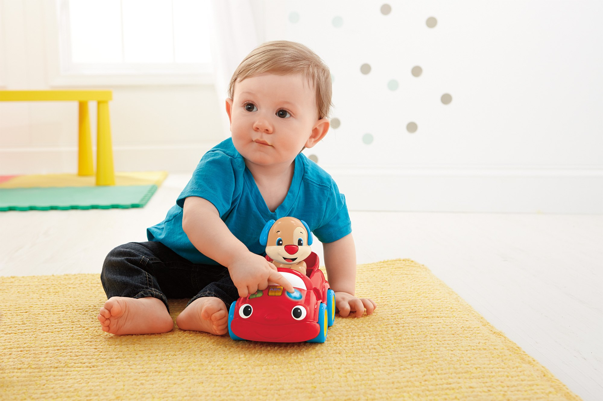 Fisher Price Puppy Push Car Learn To Walk Toy Baby Toddler Infant