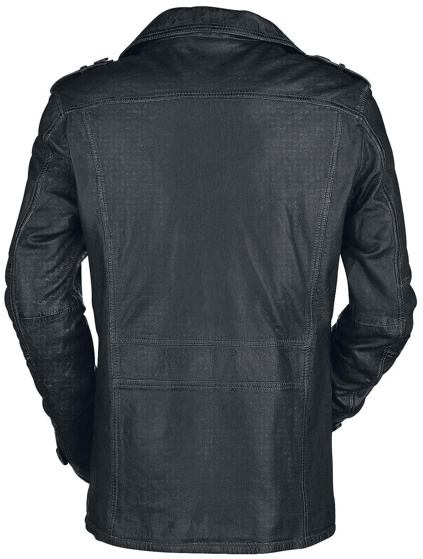 Gipsy Mic Latriv W Abrigo de Cuero Negro M