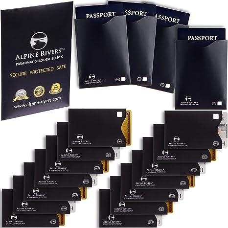Amazon.com: 18 fundas de bloqueo RFID (14 soportes para ...