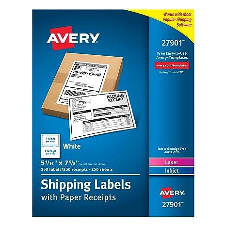 Amazon.com: Avery Etiquetas De Envío De Color Blanco con ...