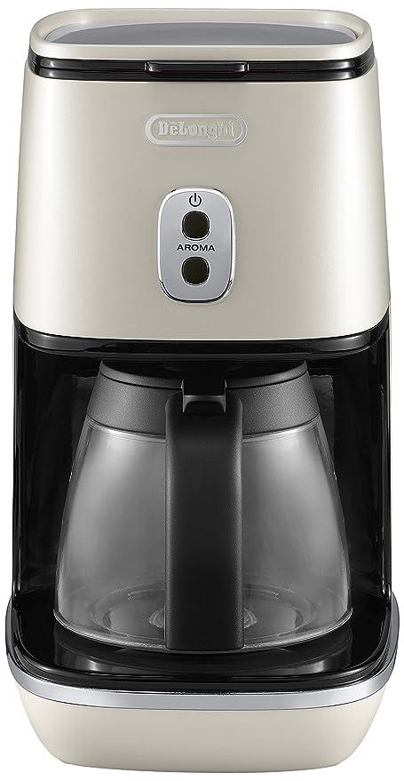 DeLonghi ICMI 211.W - Cafetera (Independiente, Cafetera de filtro, 1,25 L, De café molido, 1000 W, Blanco)