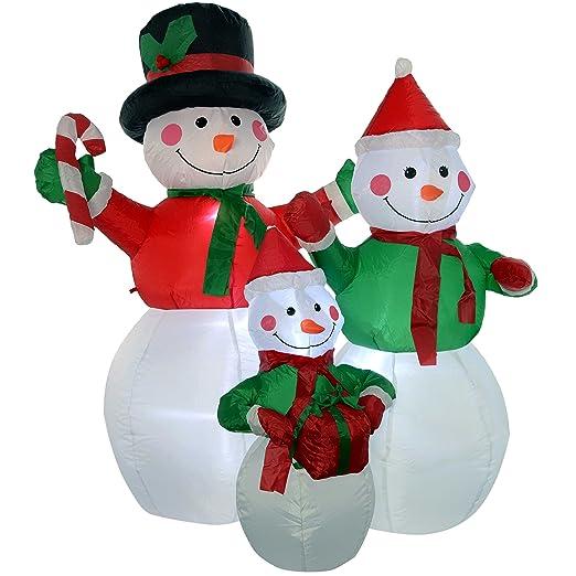 WeRChristmas - Muñeco de Nieve Familia Hinchable de Navidad ...