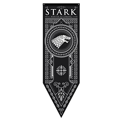 "Game of Thrones House Stark Tournament Banner, 18""x 60"": Toys & Games"
