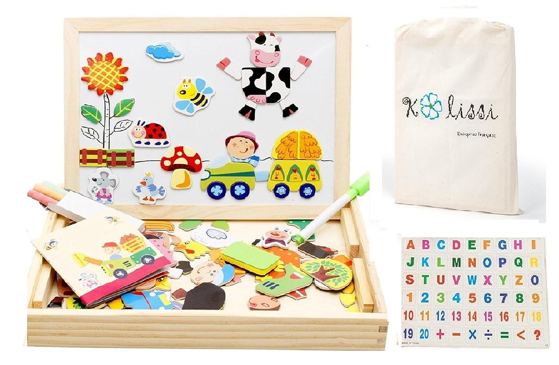 Puzzle magnético de madera de Kalissi + 2 extras - Juego educativo ...