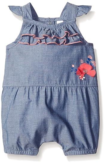 14f088bea Amazon.com  Petit Lem Girls  Baby Romper-Blue Denim
