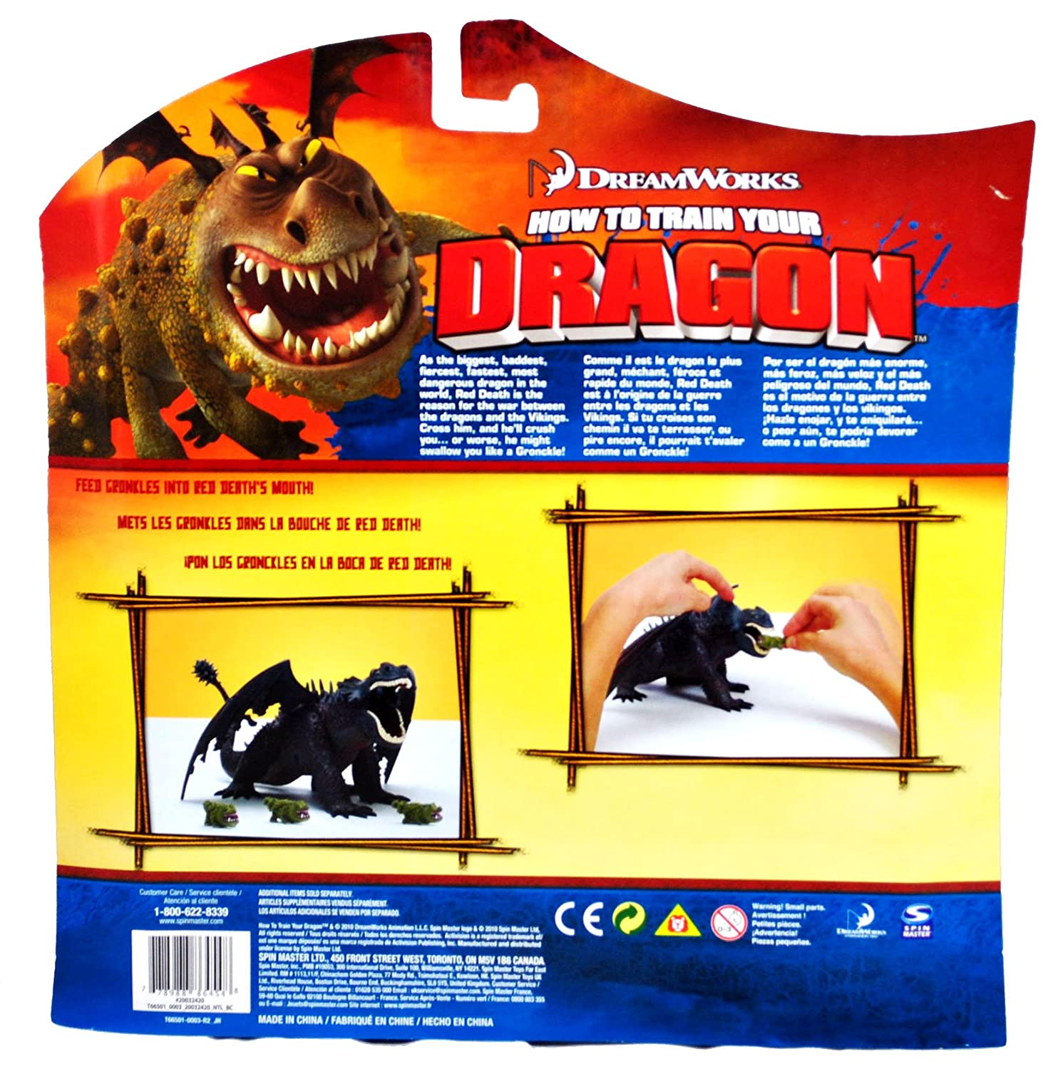 Amazon dreamworks movie series how to train your dragon amazon dreamworks movie series how to train your dragon exclusive 8 inch long action figure red death with 3 mini gronckles toys games ccuart Choice Image
